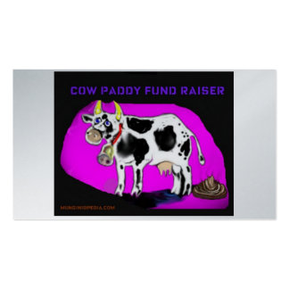 cow paddy cards business card templates