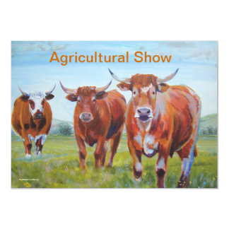 Cow Painting Agricultural Show Card