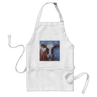 Cow Painting, Cow Decor, Cow Art, Dairy Cow Adult Apron