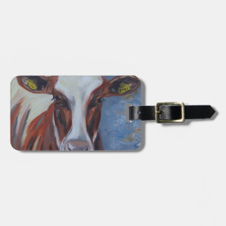 Cow Painting, Cow Decor, Cow Art, Dairy Cow Bag Tag