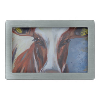 Cow Painting, Cow Decor, Cow Art, Dairy Cow Belt Buckle