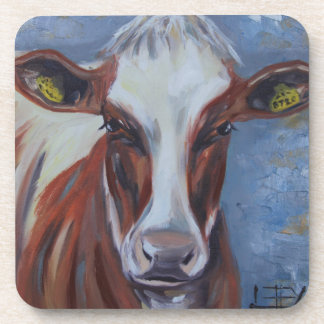 Cow Painting, Cow Decor, Cow Art, Dairy Cow Drink Coaster