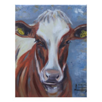 Cow Painting, Cow Decor, Cow Art, Dairy Cow Letterhead
