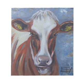 Cow Painting, Cow Decor, Cow Art, Dairy Cow Notepad