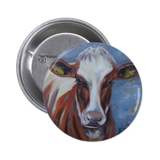 Cow Painting, Cow Decor, Cow Art, Dairy Cow Pinback Button