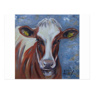 Cow Painting, Cow Decor, Cow Art, Dairy Cow Postcard