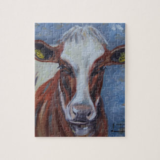 Cow Painting, Cow Decor, Cow Art, Dairy Cow Puzzle