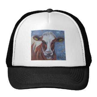 Cow Painting, Cow Decor, Cow Art, Dairy Cow Trucker Hat