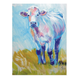 Cow Painting Postcard