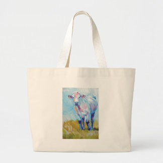 Cow Painting Tote Bags