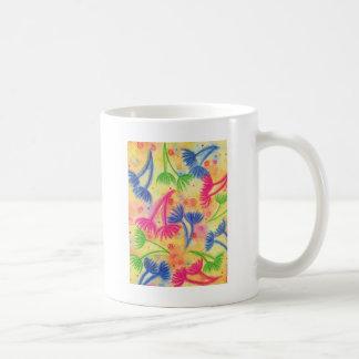 COW PARSLEY 2 - Cheerful Yellow Cherry Acid Green Coffee Mug
