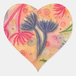 COW PARSLEY 3 - Happy Neon Pink Cherry Acid Green Heart Sticker