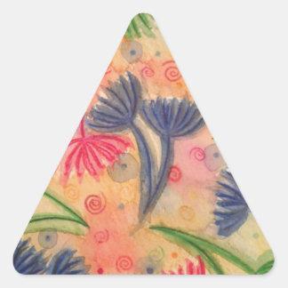 COW PARSLEY 3 - Happy Neon Pink Cherry Acid Green Triangle Sticker