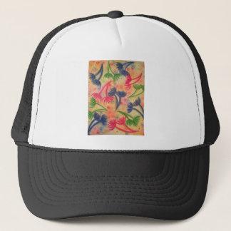 COW PARSLEY 3 - Happy Neon Pink Cherry Acid Green Trucker Hat
