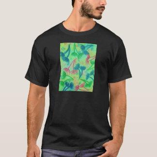 COW PARSLEY - Bright Cherry Acid Green Teal Blue N T-Shirt