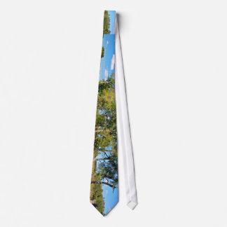 Cow parsnip neck tie