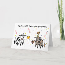 Cow Party Birthday Card