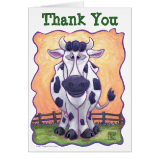Cow Party Center Cards