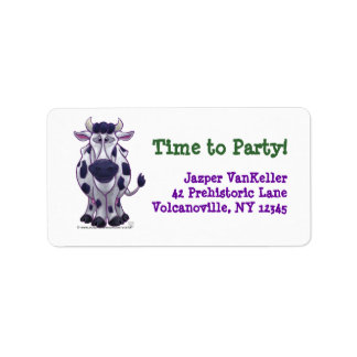 Cow Party Center Custom Address Labels