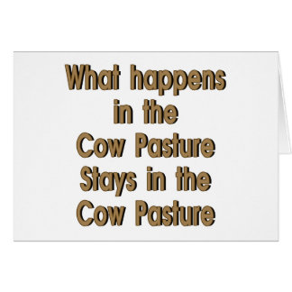 Cow Pasture Card