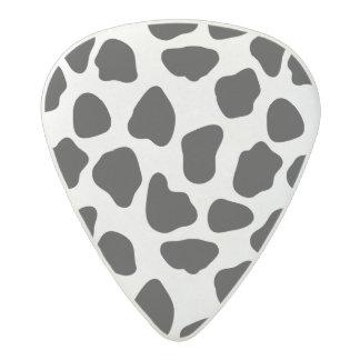 Cow pattern acetal guitar pick