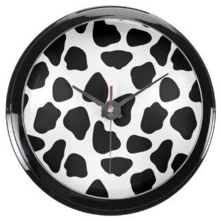 Cow pattern aquavista clocks