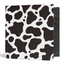 Cow pattern background binder