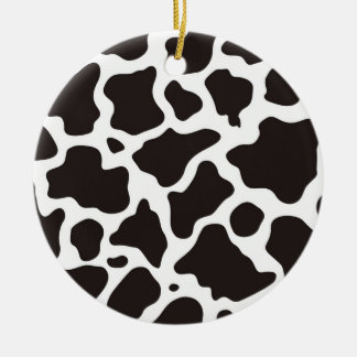 Cow pattern background ceramic ornament