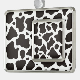 Cow pattern background christmas ornament