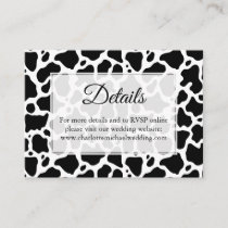 Cow Pattern Background Enclosure Card