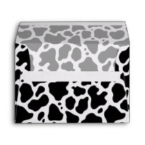Cow Pattern Background Envelope
