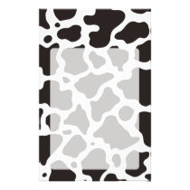 Cow pattern background flyer