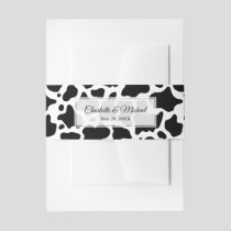 Cow Pattern Background Invitation Belly Band