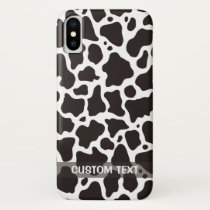 Cow pattern background iPhone x case