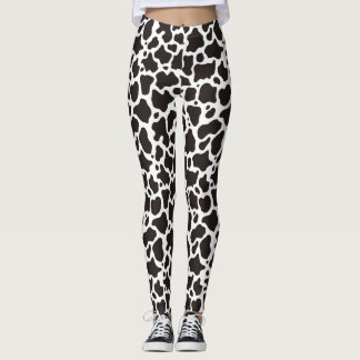 Cow pattern background leggings