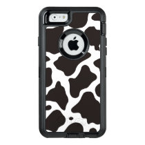 Cow pattern background OtterBox defender iPhone case