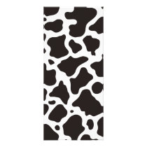 Cow pattern background rack card