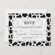 Cow Pattern Background RSVP Card