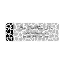 Cow Pattern Background Wedding Address Labels