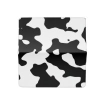 Cow Pattern Black and White Checkbook Cover