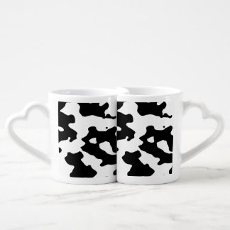 Cow Pattern Black and White Coffee Mug Set