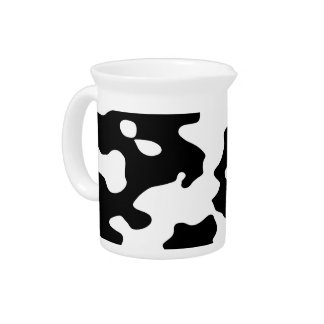 Cow Pattern Black and White Drink Pitcher