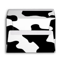 Cow Pattern Black and White Envelope