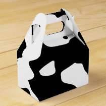 Cow Pattern Black and White Favor Box