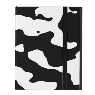 Cow Pattern Black and White iPad Cover