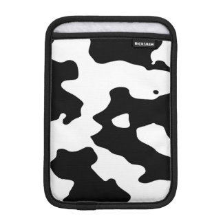 Cow Pattern Black and White iPad Mini Sleeve