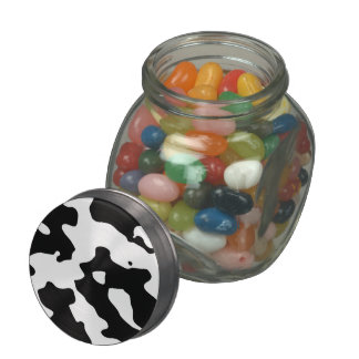Cow Pattern Black and White Jelly Belly Candy Jars