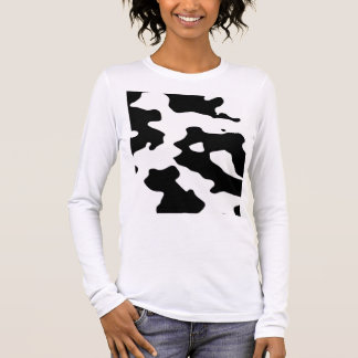 Cow Pattern Black and White Long Sleeve T-Shirt