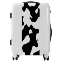 Cow Pattern Black and White Luggage