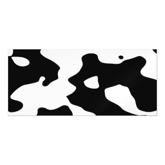 Cow Pattern Black and White Magnetic Card